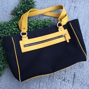 Kate Spade Canvas and Leather Tote Handbag